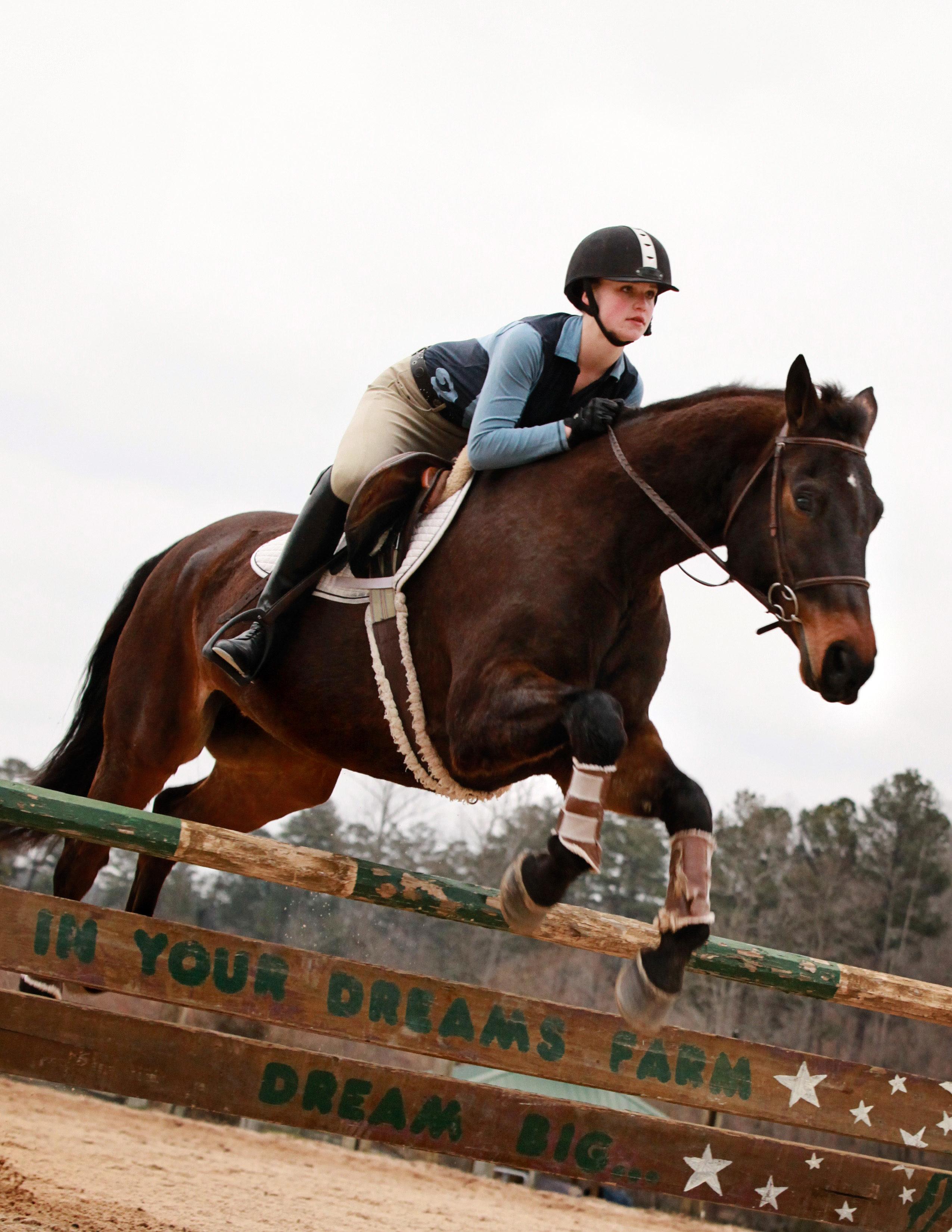 In Your Dreams Horse Farm in Alpharetta Georgia - Sarah Jumping
